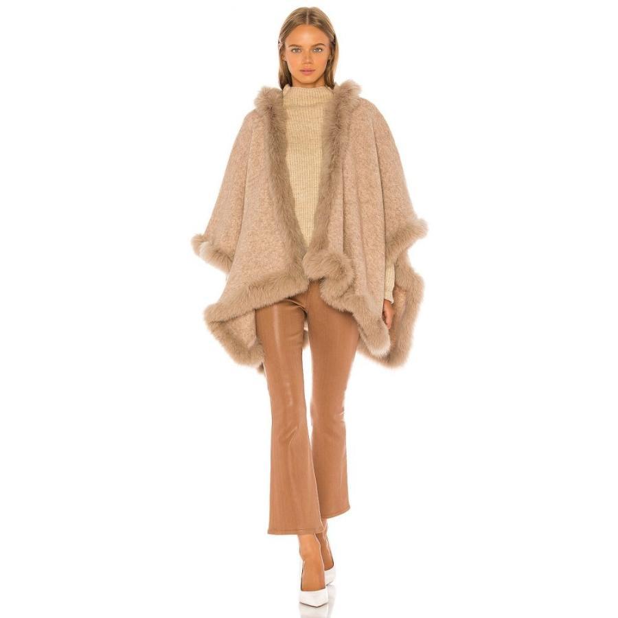 アリス アンド オリビア Alice + Olivia レディース ポンチョ アウター Kamala Oversize Poncho With Fur Natural