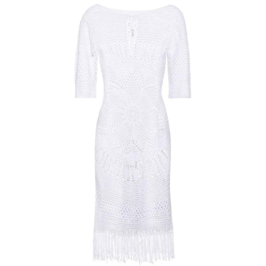 メリッサ オダバッシュ Melissa Odabash レディース ビーチウェア 水着・ビーチウェア Melissa knitted cotton dress 白い