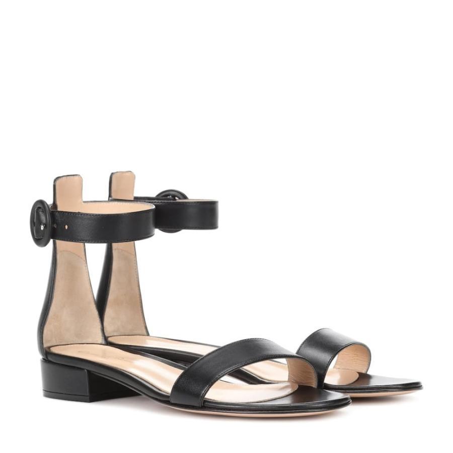 バーゲンで ジャンヴィト ロッシ レディース レディース サンダル シューズ・靴・ミュール シューズ・靴 Portofino 20 ロッシ leather sandals Black, ROOT CROPS:662c1055 --- lighthousesounds.com