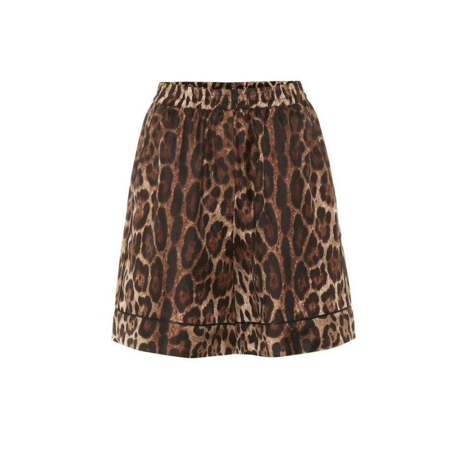 ドルチェ&ガッバーナ Dolce & Gabbana レディース ショートパンツ ボトムス・パンツ Leopard silk twill shorts Leo New