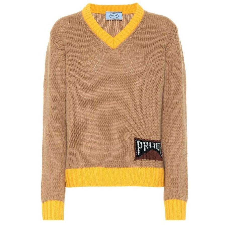 2018セール プラダ Prada レディース レディース ニット・セーター トップス sweater Cashmere-blend sweater トップス Camel, NSB onlineshop:e9e200fd --- chizeng.com