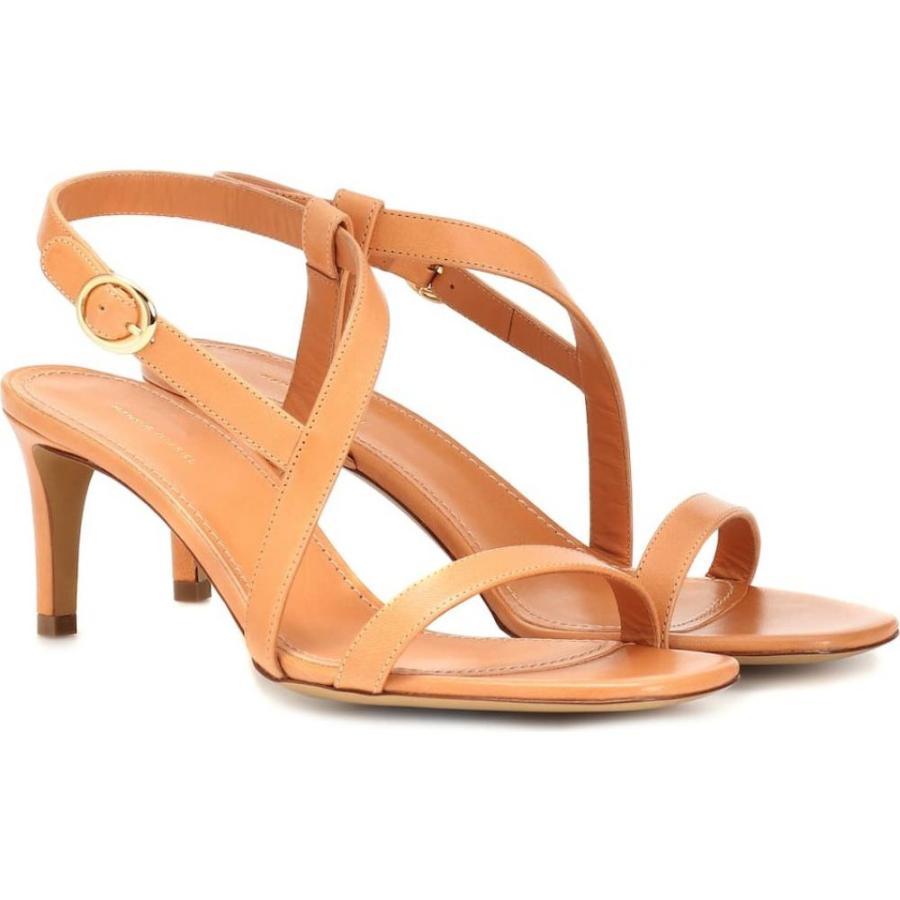 【在庫一掃】 マンサーガブリエル Mansur Gavriel レディース サンダル・ミュール シューズ・靴 Leather sandals Cammello, タケオシ 75e3feda