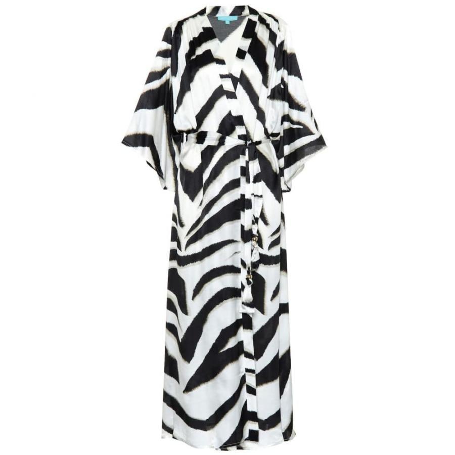 メリッサ オダバッシュ Melissa Odabash レディース ビーチウェア 水着・ビーチウェア Jules silk-blend maxi kaftan Zebra
