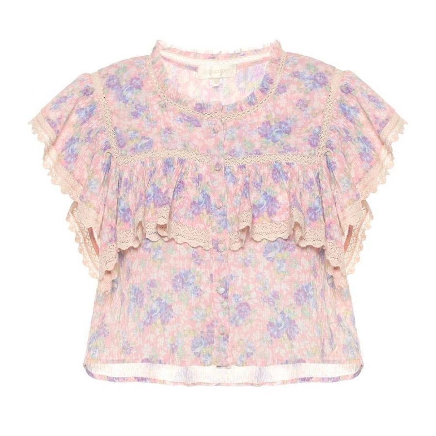 ラブシャックファンシー LoveShackFancy レディース トップス Laurel floral cotton top ピンク Garden