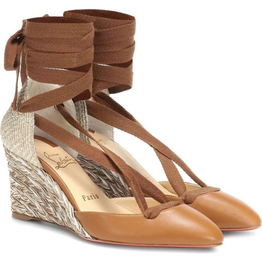クリスチャン ルブタン Christian Louboutin レディース エスパドリーユ シューズ·靴 Noemia leather espadrilles Version Caramel