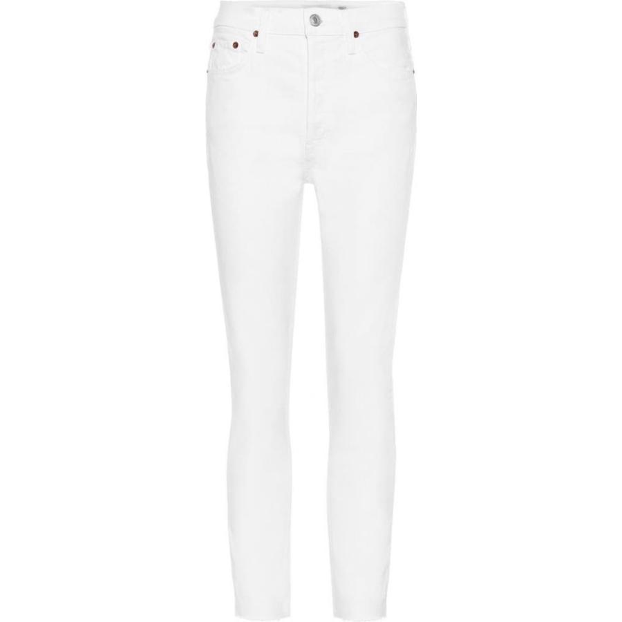 2019年最新入荷 リダン jeans Re/Done High-rise レディース ジーンズ・デニム レディース ボトムス・パンツ High-rise ankle crop skinny jeans White, IKIKAGU(イキカグ):cc558639 --- lighthousesounds.com