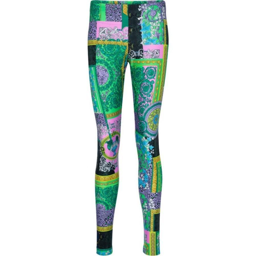 ヴェルサーチ Versace レディース スパッツ·レギンス インナー·下着 barocco printed leggings Multicolour