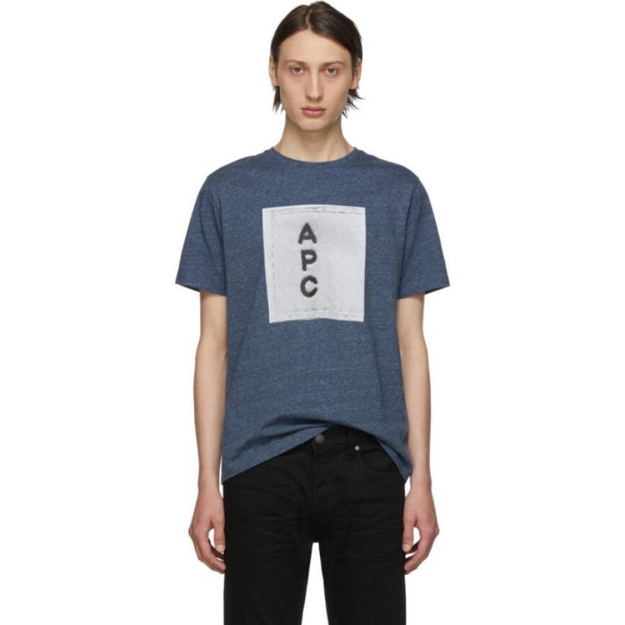 【日本限定モデル】 アーペーセー A.P.C. Tシャツ メンズ Tシャツ トップス アーペーセー Indigo Logo T-Shirt Heathered トップス indigo, 追分町:f139ac08 --- opencandb.online