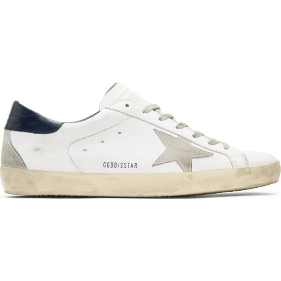 高質 ゴールデン グース Golden Golden ゴールデン Goose White/Blue/Cream メンズ スニーカー シューズ・靴 White & Navy Superstar Sneakers White/Blue/Cream, G専門店 G-SUPPLY(ジーサプライ):67b1440c --- levelprosales.com