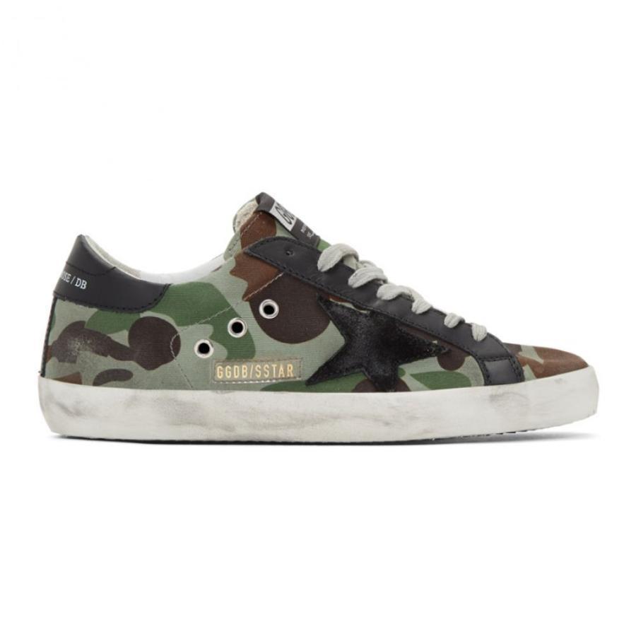 最高 ゴールデン グース Camo Golden Superstar Goose メンズ スニーカー Canvas シューズ・靴 Green & Black Camo Canvas Superstar Sneakers Camouflage/Black, 結姫(musubime):c93b62e6 --- levelprosales.com