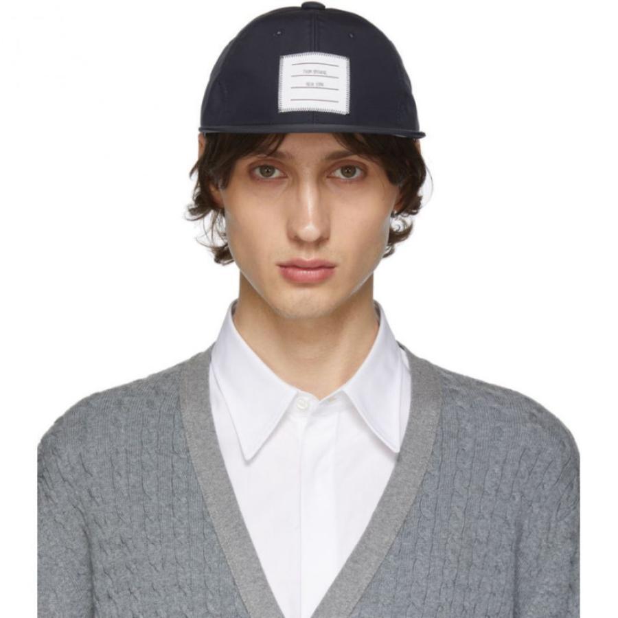 【500円引きクーポン】 トム ブラウン Thom Thom Browne メンズ キャップ ベースボールキャップ Browne 帽子 Navy Navy Logo Baseball Cap, ナルエー公式オンラインショップ:8942e465 --- sonpurmela.online