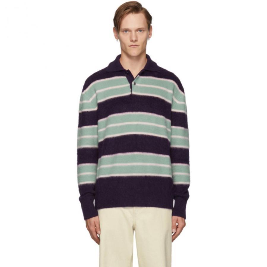 【即発送可能】 オーエーエムシー OAMC メンズ Lithium ポロシャツ トップス ポロシャツ Polo Blue & Purple Lithium Polo Dark burgundy, ハリウッドコレクターズギャラリー:8246374f --- sonpurmela.online