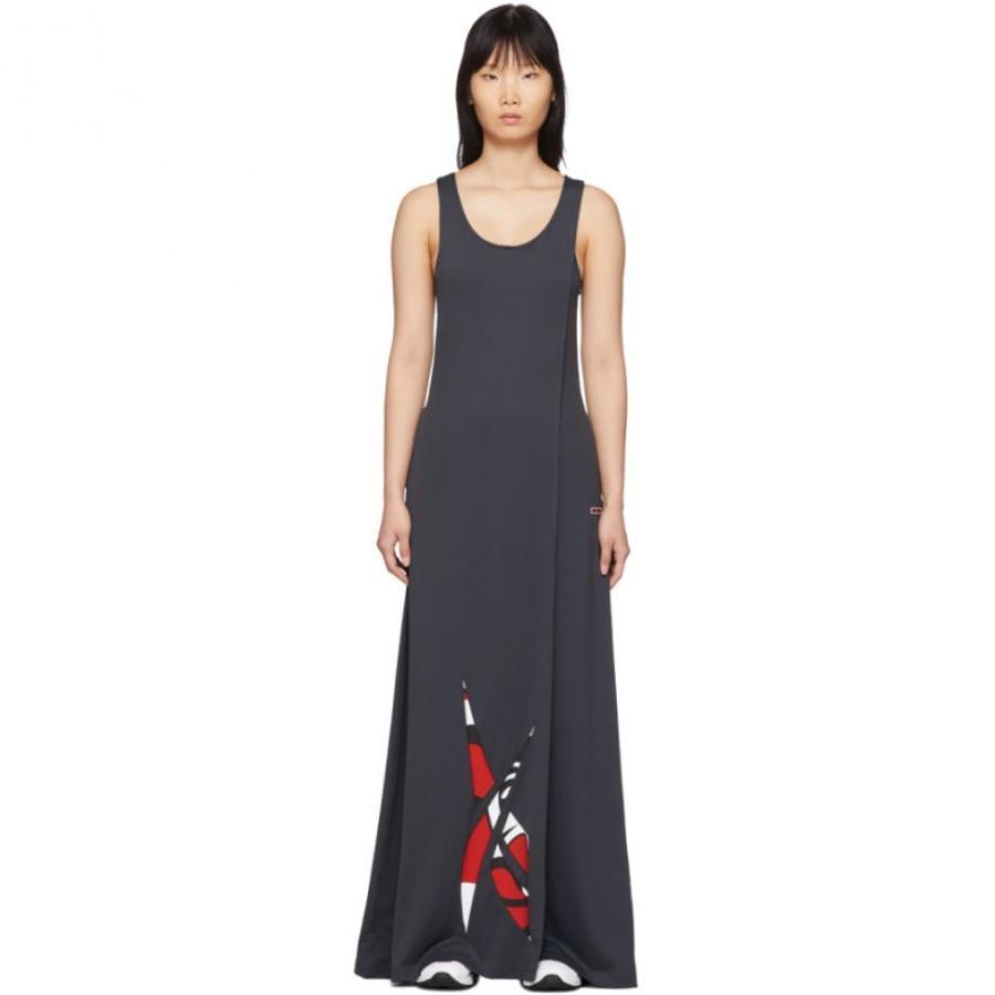 リーボック Reebok by Pyer Moss レディース ワンピース タンクドレス ワンピース・ドレス グレー Collection 3 Long Tank Dress