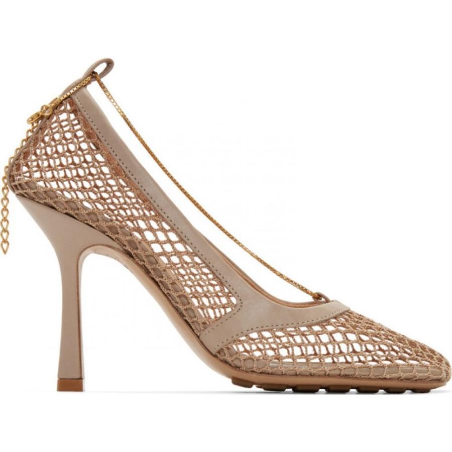 日本最大のブランド ボッテガ ヴェネタ Bottega Veneta レディース ヒール シューズ・靴 Beige Net Chain Heels Beige, ベビーワールド 7a6aab37