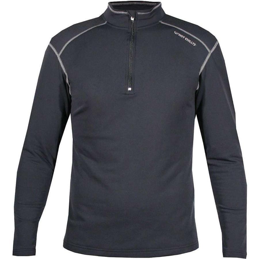 【★大感謝セール】 ホットチリーズ Hot Chillys メンズ フィットネス・トレーニング Tシャツ トップス micro elite xt zip tee Black/Granite, 夏セール開催中 MAX80%OFF! 4e61e5fe