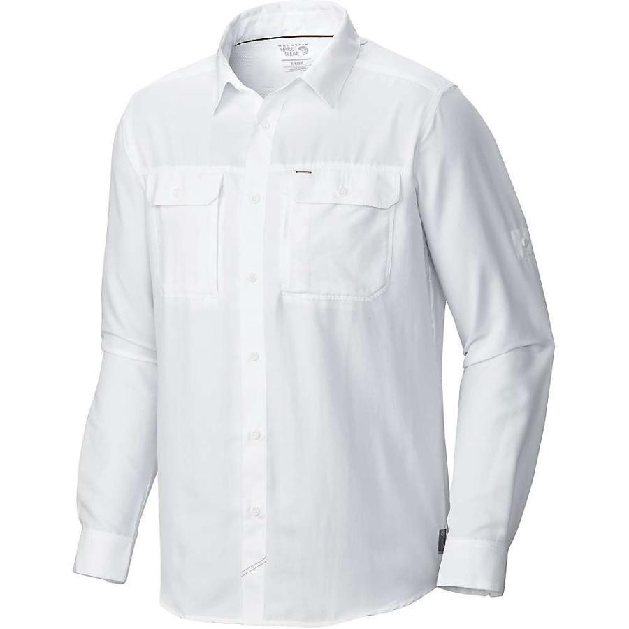 マウンテンハードウェア Mountain Hardwear メンズ ハイキング・登山 シャツ トップス Canyon LS Shirt White