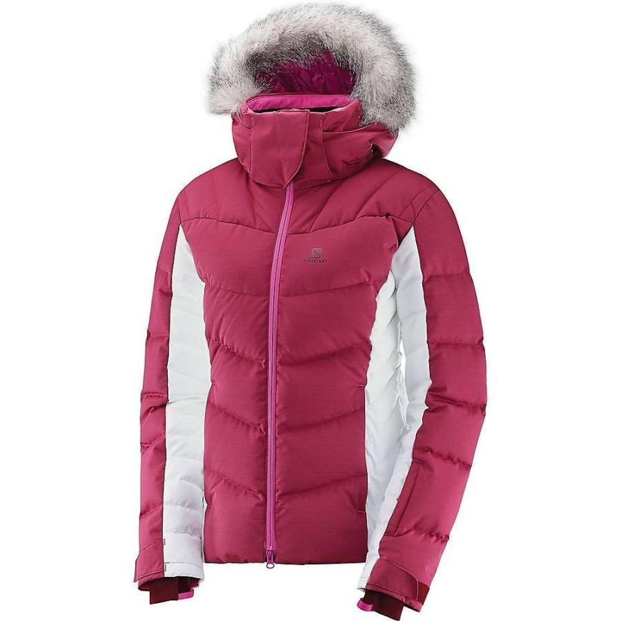 新しいコレクション サロモン Salomon レディース スキー・スノーボード ジャケット アウター icetown jacket Beet Red/White, amisoft DLストア 6e57b7dd