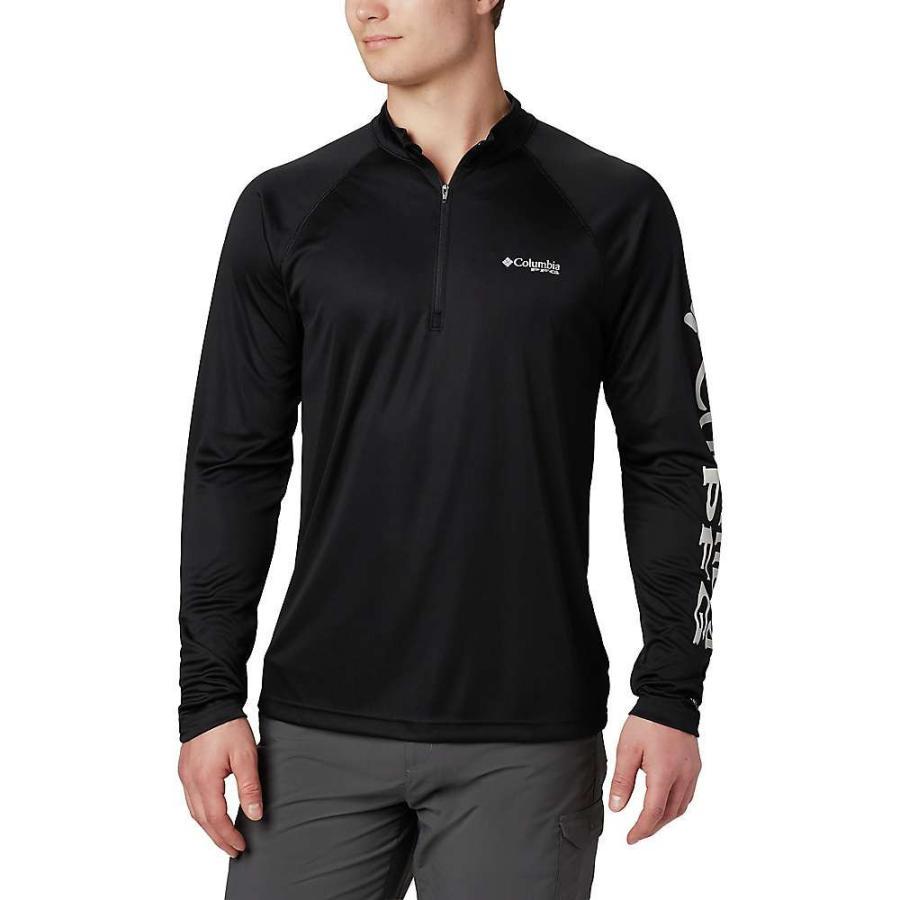 コロンビア Columbia メンズ トップス ハイキング・登山 Terminal Tackle 1/4 Zip Top Black / Cool Grey Logo