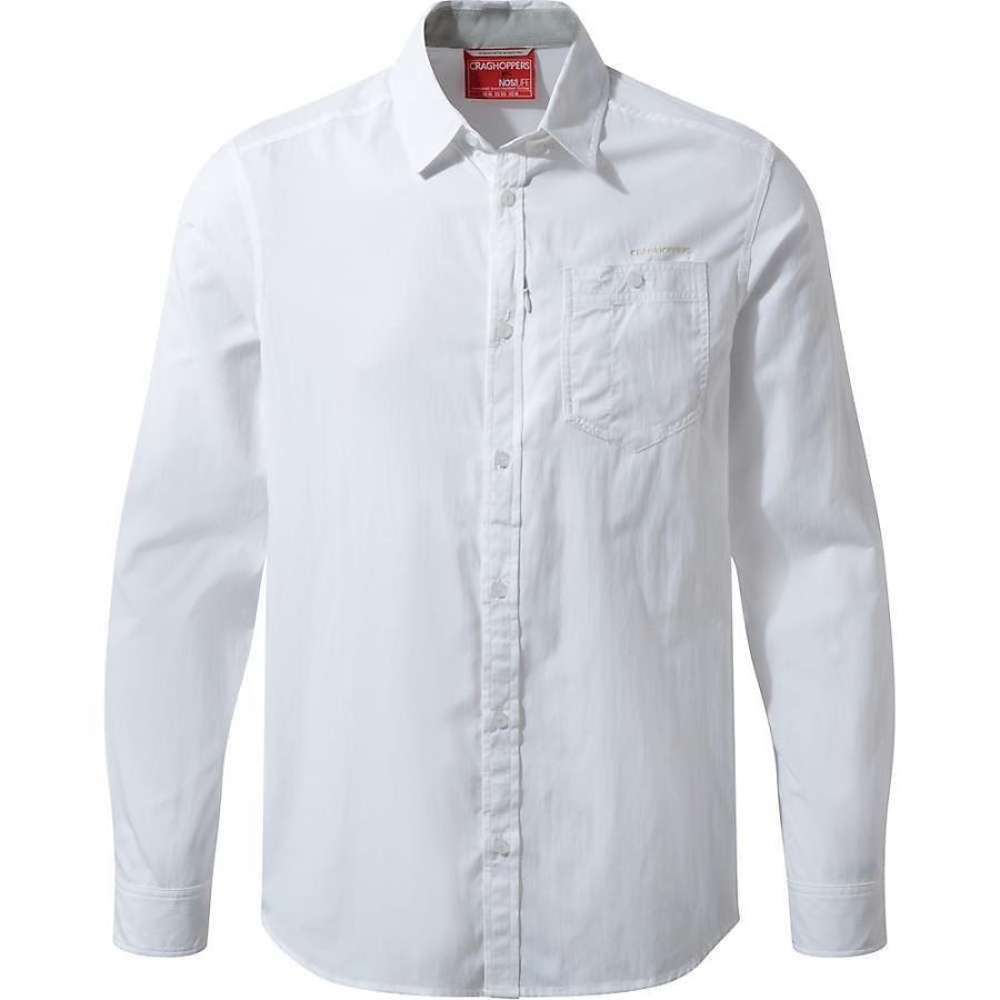 クラッグホッパーズ Craghoppers メンズ ハイキング・登山 シャツ トップス NosiLife Tatton LS Shirt White