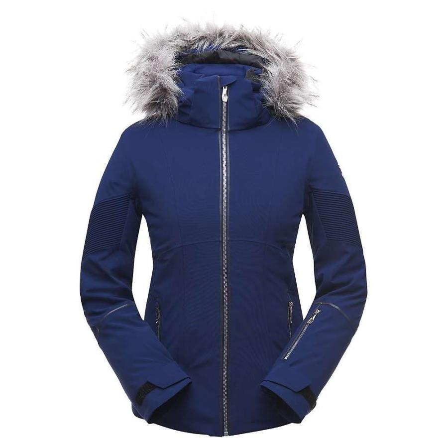 最先端 スパイダー Spyder レディース Blue スキー Depths/Black・スノーボード jacket ジャケット アウター diabla faux fur jacket Blue Depths/Black, 大分県:1d94a5f3 --- airmodconsu.dominiotemporario.com