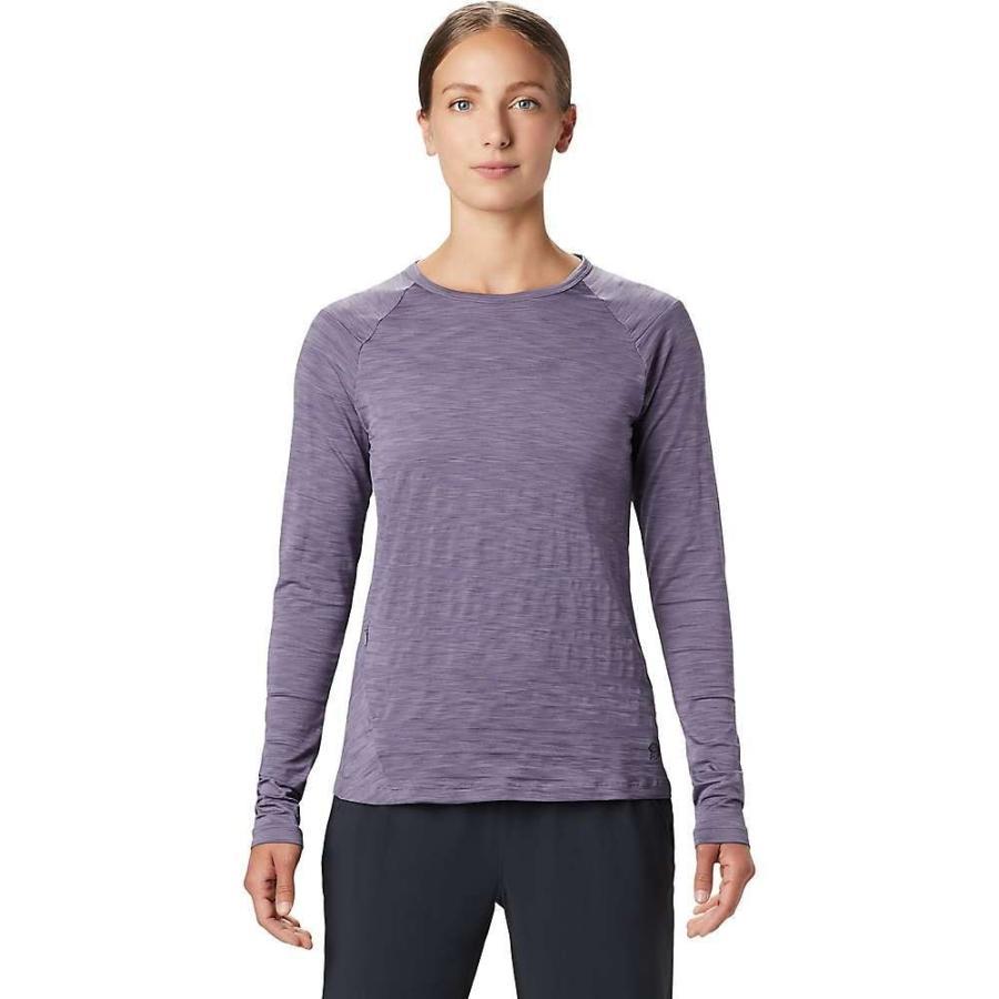 割引クーポン マウンテンハードウェア Mountain Hardwear レディース フィットネス・トレーニング Tシャツ トップス Mighty Stripe LS Tee Dusted Sky, トウノショウマチ d9536e9c
