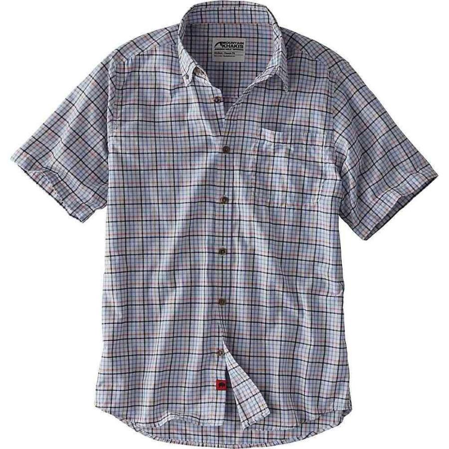マウンテンカーキス Mountain Khakis メンズ トップス ハイキング・登山 Spalding Gingham SS Shirt Sky