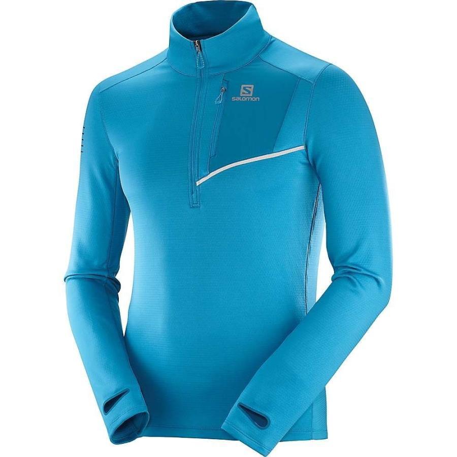 美しい サロモン Salomon Salomon メンズ 長袖Tシャツ トップス 長袖Tシャツ Fast Fjord Wing Mid Top Fjord Blue/Lyons Blue, すこやかECO通信:28a75925 --- opencandb.online