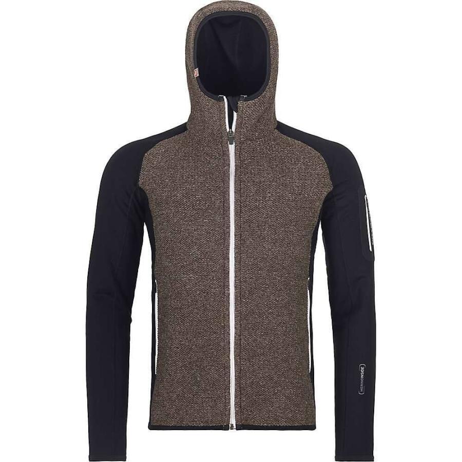 オルトボックス Ortovox メンズ フリース トップス fleece plus classic knit hoody Black Raven