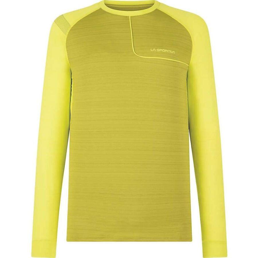 【美品】 ラスポルティバ La Sportiva メンズ フィットネス・トレーニング トップス tour long sleeve top Kiwi Citrus, 帽子 水着 スポーツ サングローブ 33682a4a