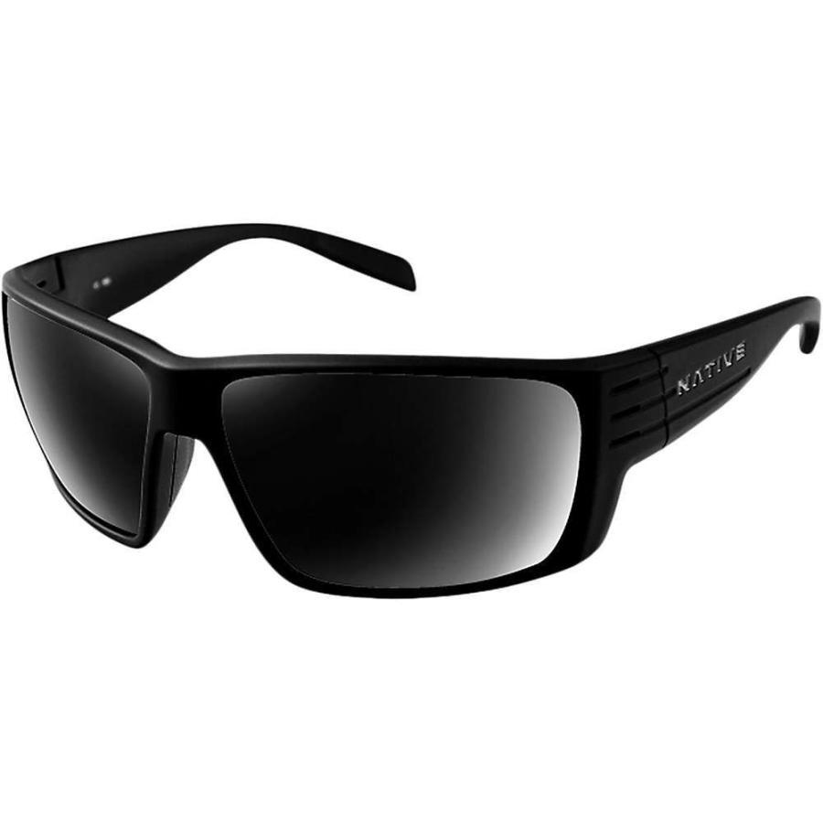 ネイティブ Native ユニセックス スポーツサングラス Griz Polarized Sunglasses Matte 黒/グレー Polarized
