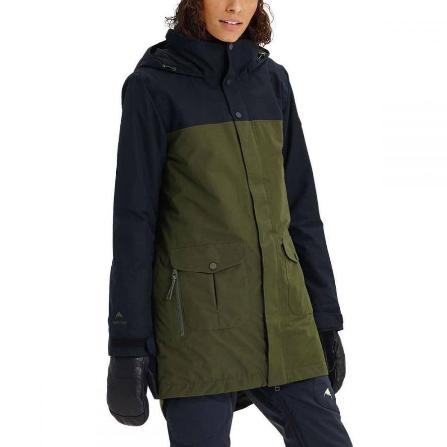 バートン Burton レディース スキー・スノーボード ジャケット アウター gore - tex eyris jacket True 黒/Forest Night