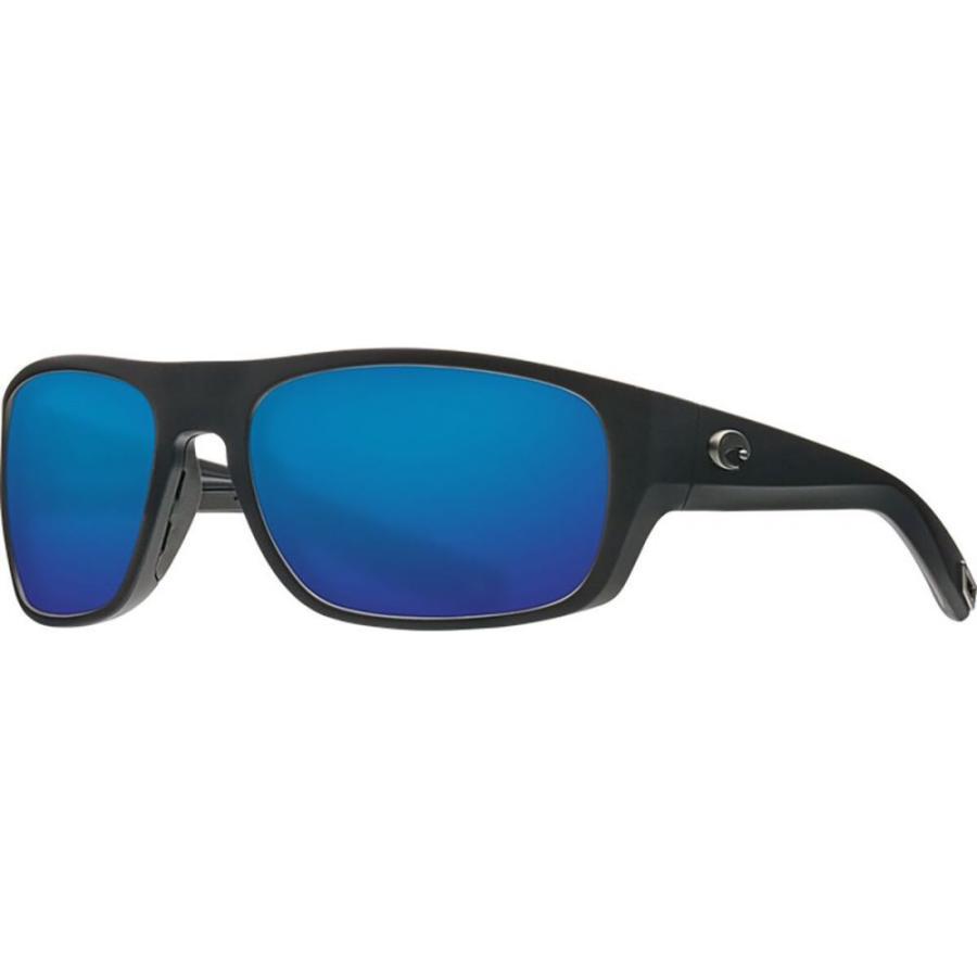 コスタ Costa レディース スポーツサングラス tico 580g polarized sunglasses Matte 黒 Frame/青 Mirror 580G