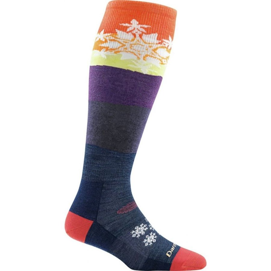 ダーンタフ Darn Tough レディース スキー・スノーボード Snowflake Over - The - Calf Light Sock Sunset