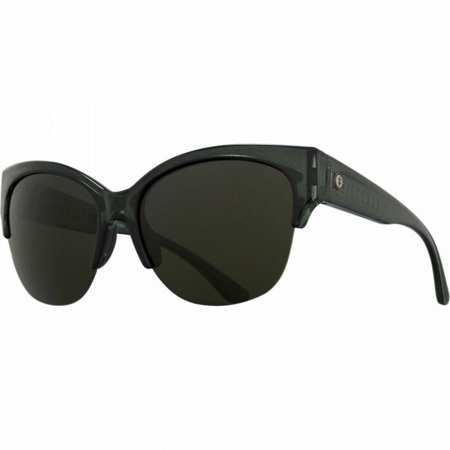 エレクトリック Electric レディース スポーツサングラス Danger Cat Pro Polarized Sunglasses Gloss Mono グレー-Polar グレー