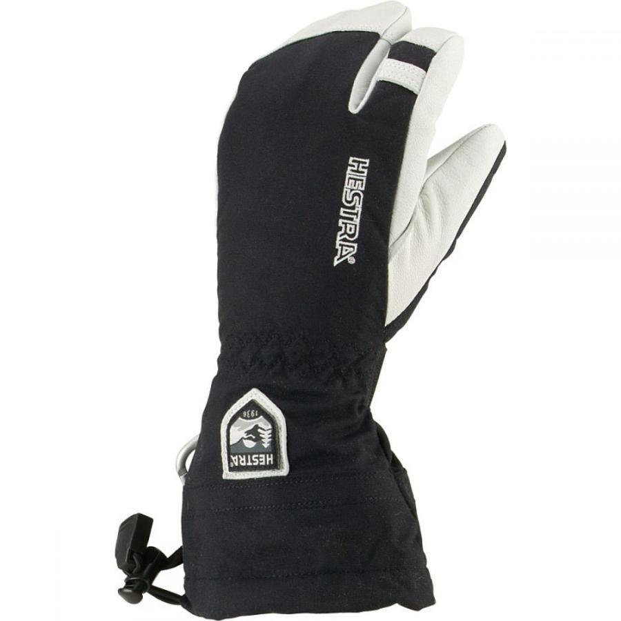 ヘスタ メンズ スキー グローブ Army Leather Heli 3 - Finger Glove 黒