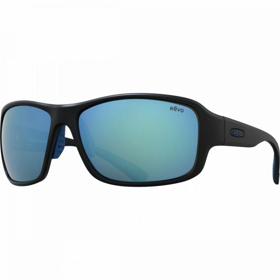 レヴォ Revo レディース スポーツサングラス Border Polarized Sunglasses Matte 黒/青 Water