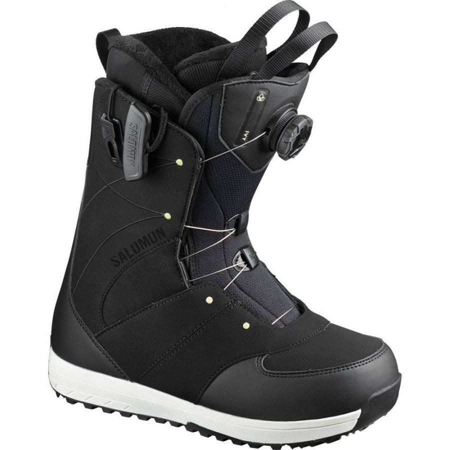 ブランド品専門の サロモン Salomon レディース スキー・スノーボード ブーツ シューズ・靴 Ivy Boa Snowboard Boot Black/Black/Pale Lime Yellow, ベストスポーツ 616052cc