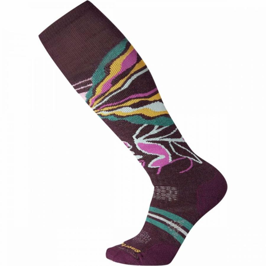 スマートウール Smartwool レディース スキー・スノーボード ソックス phd ski medium pattern sock Bordeaux