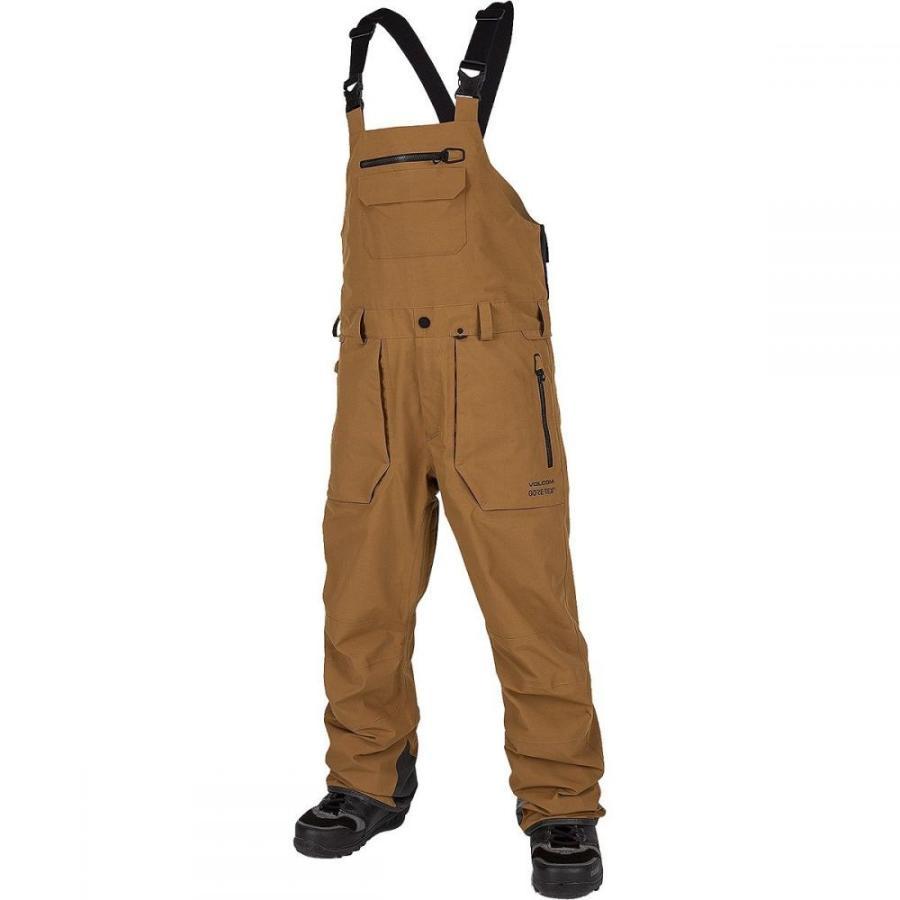 本物 ボルコム Volcom メンズ スキー・スノーボード ビブパンツ ボトムス・パンツ Rain Gore - Tex Bib Overall Pant Caramel, 粟島浦村 fd6c4327