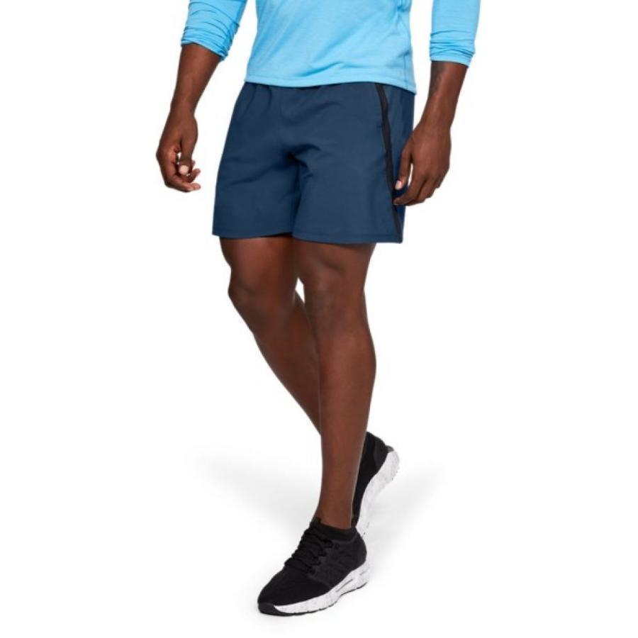アンダーアーマー Under Armour メンズ ボトムス・パンツ ランニング・ウォーキング Launch SW Branded Shorts 7 Inseam PETROL 青/黒/REFLECTIVE