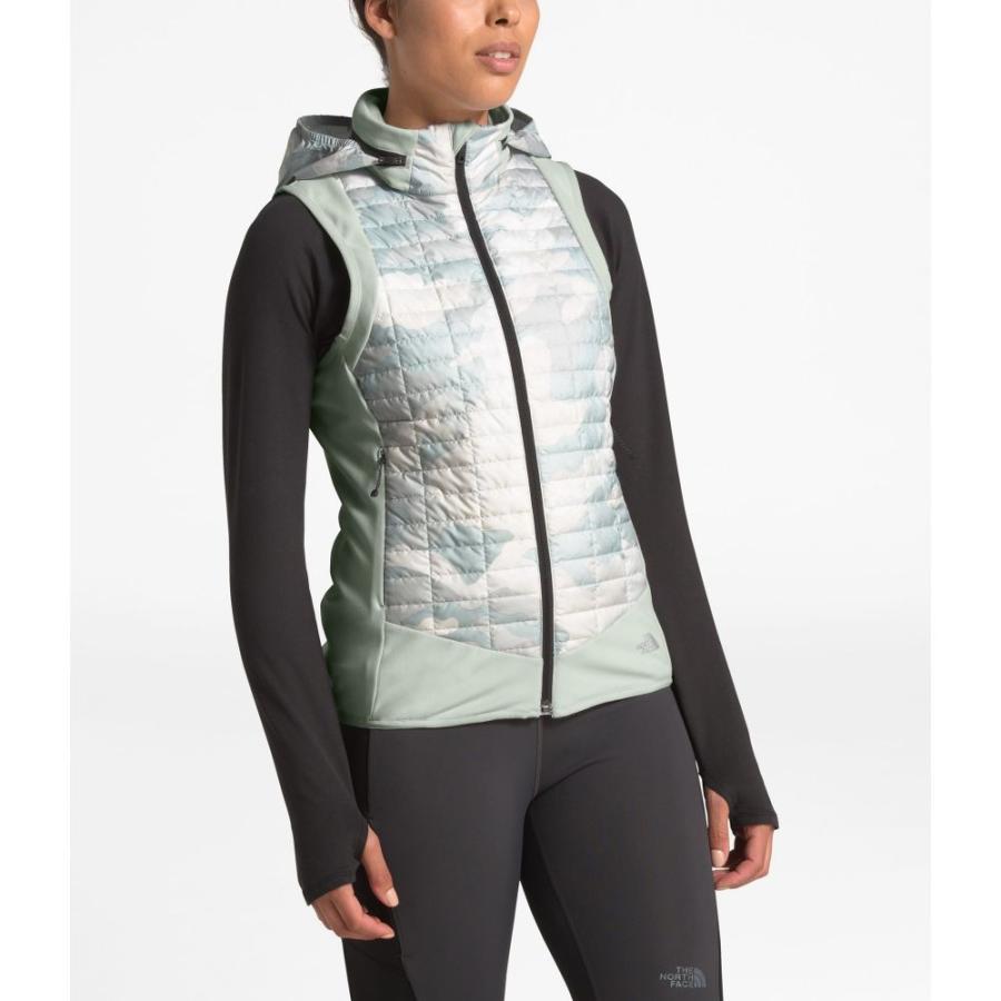 激安な ザ ノースフェイス The North Face レディース ランニング・ウォーキング ベスト・ジレ トップス ThermoBall Hybrid Insulated Vest TIN GREY/TNF WAXED CAMO, 健康無垢の材木屋 イーウッド 0baabc45