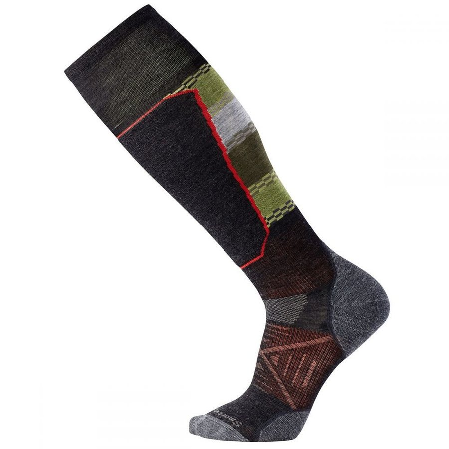 スマートウール SMARTWOOL メンズ スキー・スノーボード ソックス phd ski light elite pattern socks グレー
