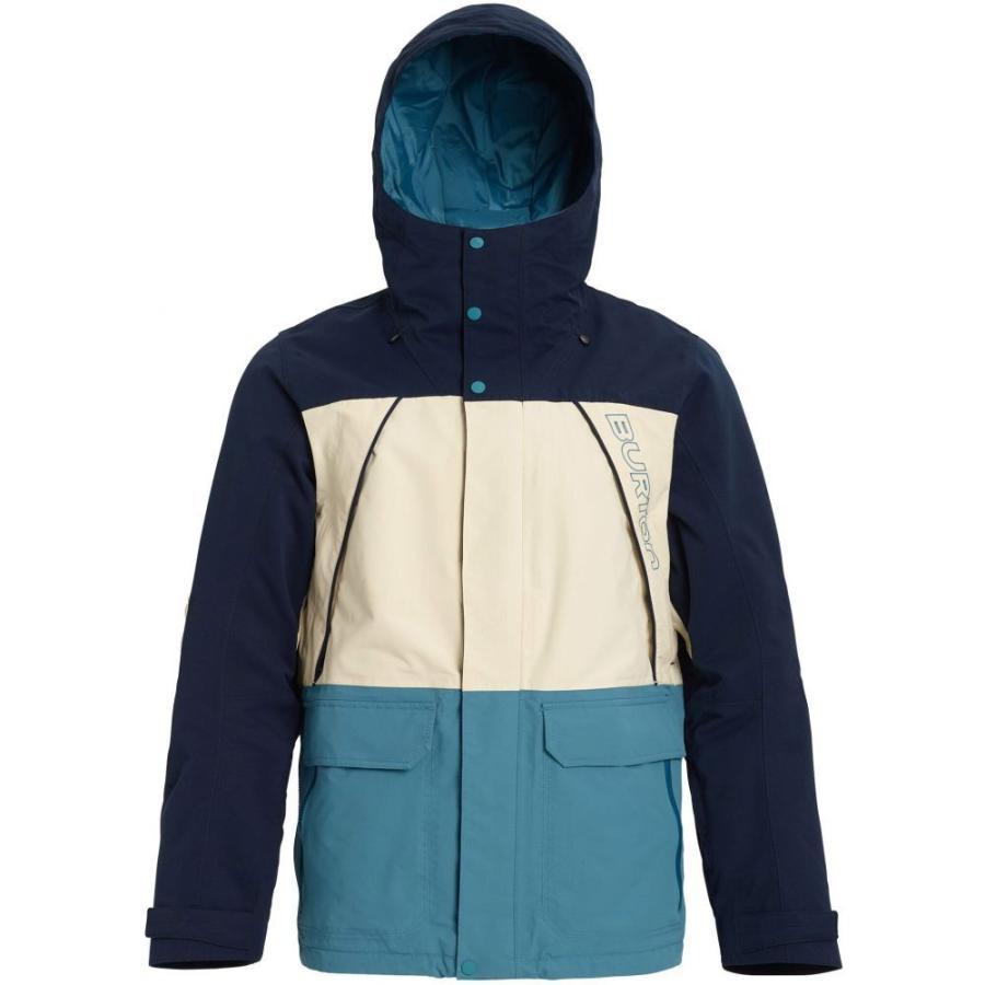 バートン Burton メンズ スキー・スノーボード ジャケット アウター Breach Snowboard Jacket 2020 Dress 青/Almond Milk/Storm 青