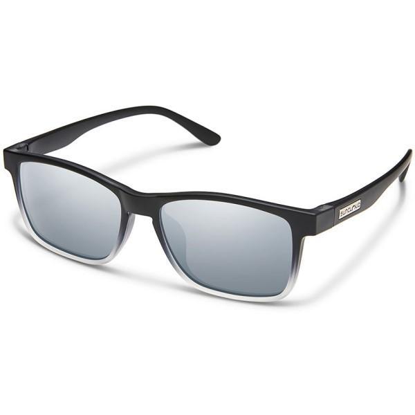 サンクラウド メンズ スポーツサングラス Dexter Sunglasses 黒 Crystal Fade/ Polarized Polycarbonate 銀 Mirror Lens