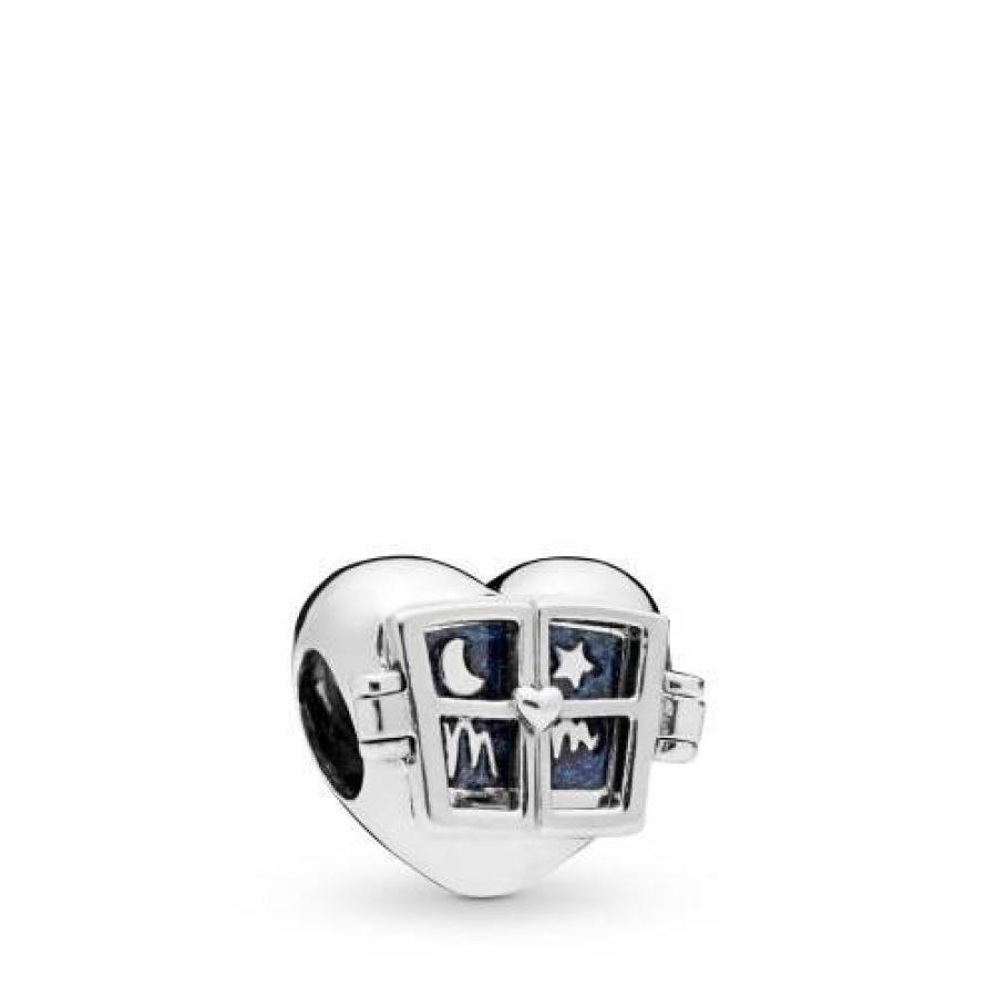 大人気の パンドラ Pandora レディース ジュエリー・アクセサリー PANDORA PANDORA Window Heart Window レディース 925 Sterling Silver Charm, しらす屋 前福:85aa6b3e --- sonpurmela.online