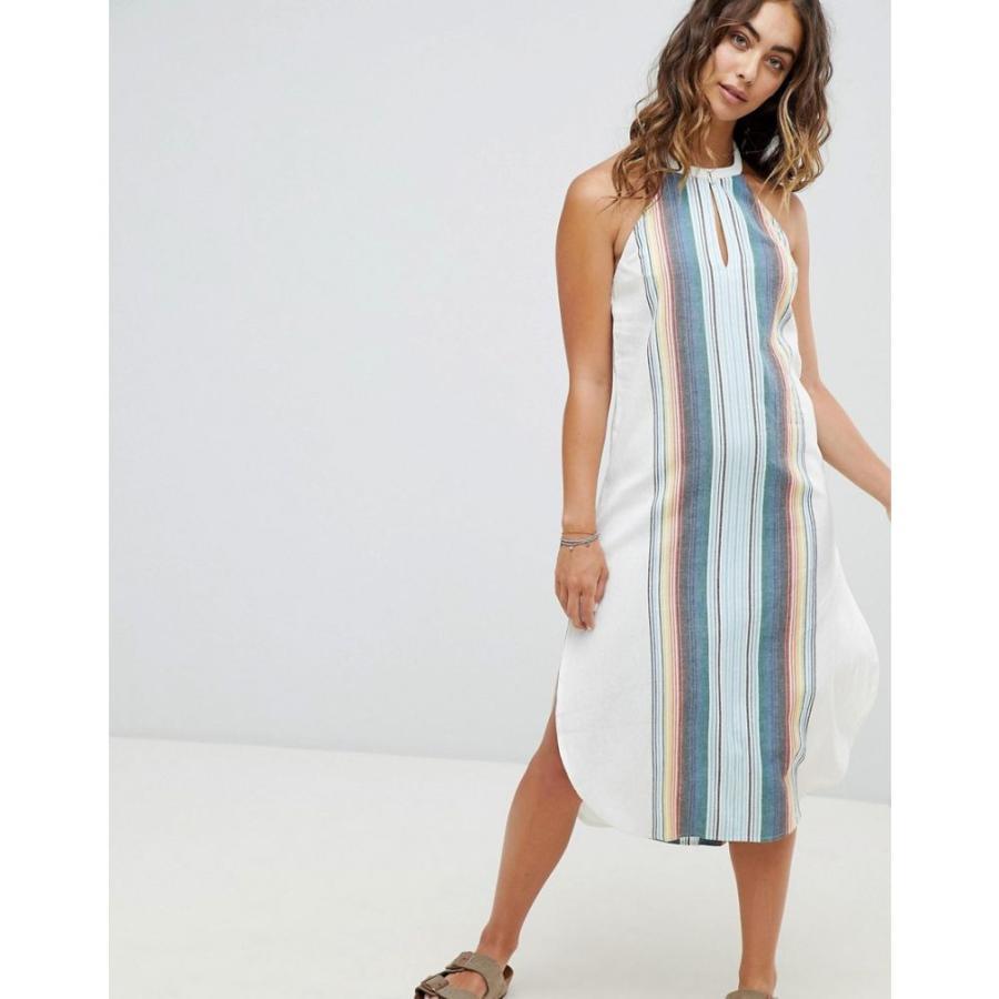 リップカール レディース ビーチウェア 水着・ビーチウェア Rip Curl Beach Stripe Midi Dress Vanilla