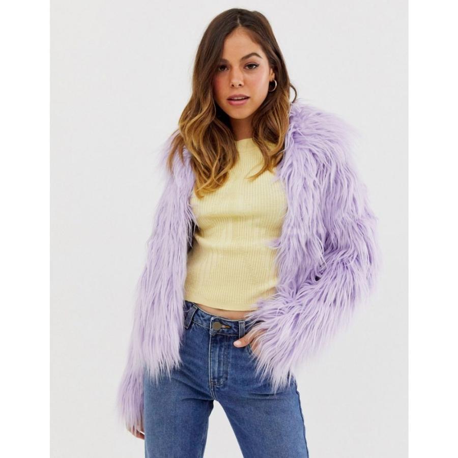 【保障できる】 グラマラス Glamorous レディース coat Glamorous コート ファーコート faux アウター faux fur coat in lilac ライラック, タキチョウ:3426b5e7 --- sonpurmela.online
