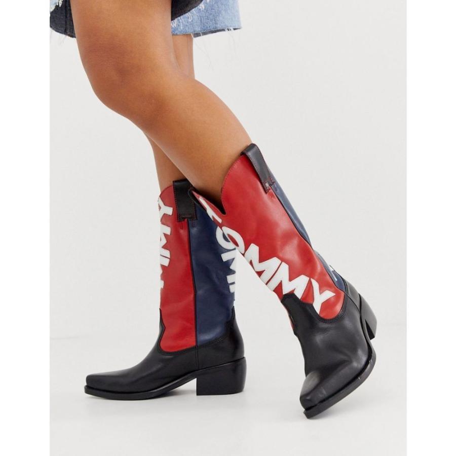 【気質アップ】 トミー ジーンズ cowboy Tommy ジーンズ Jeans トミー レディース ブーツ シューズ・靴 heritage cowboy boots Midnight, 本吉郡:178dc249 --- sonpurmela.online