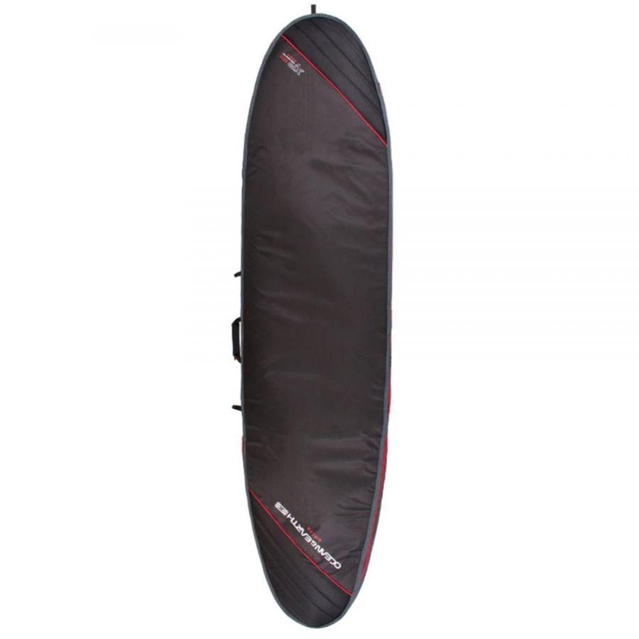 オーシャンアンドアース Ocean and Earth ユニセックス サーフィン Aircon Heavy Weight Longboard Surfboard Bag 黒 Light 赤