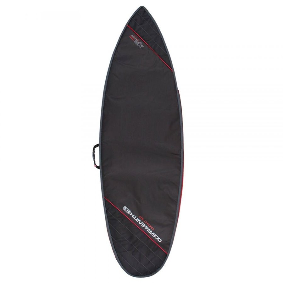 オーシャンアンドアース Ocean and Earth ユニセックス サーフィン Compact Day Shortboard Surfboard Bag 黒 Light 赤